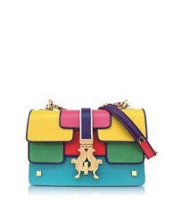Giancarlo Petriglia Summer P Bag Color Block Leather Shoulder Bag Yellow