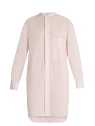 Acne Studios Siva Cotton Shirtdress Pink