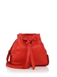 Christopher Kon Leather Bucket Bag Red Black