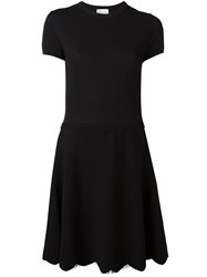 Red Valentino Lace Detail Flared Dress Black