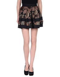 Noshua Mini Skirts Dark Brown