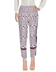 Alysi Casual Pants Maroon