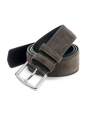 Loro Piana Cintura Suede Belt Warm Grey