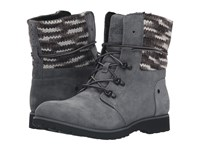 The North Face Ballard Lace Ii Mm Multi Knit Iron Gate Grey Tnf Black Women's Lace Up Boots Blue
