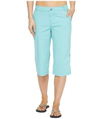Woolrich Vista Point Eco Rich Convertible Knee Pants Sky Blue Women's Casual Pants
