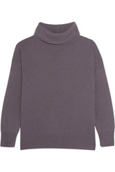 Iris And Ink Antonella Cashmere Turtleneck Sweater Grape