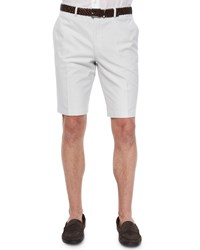 Brioni Micro Houndstooth Shorts Dark Gray