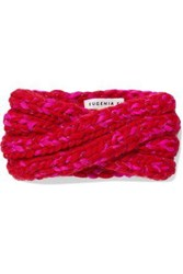 Eugenia Kim Woman Lula Marled Metallic Wool Blend Headband Red