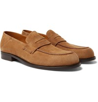 Mr P. Dennis Collapsible Heel Suede Loafers Brown