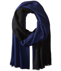 Love Quotes Travel Weight Cashmere Dip Dye Wrap Scarf Mood Black Scarves Blue