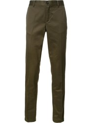 Givenchy Star And Stripe Trimmed Trousers Green