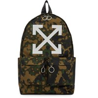 Off White Multicolor Camouflage Backpack
