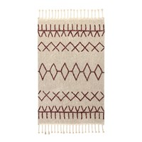 Lorena Canals Bereber Washable Rug Burgundy 140X200cm