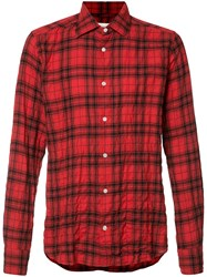 Faith Connexion Plaid Print Shirt Red
