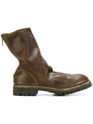Guidi Rear Zip Boots Horse Leather Leather Rubber Brown
