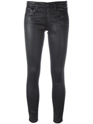 Ag Jeans Leather Effect Skinny Black