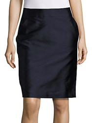 Pauw Solid Fitted Skirt Navy