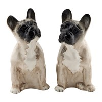 Quail Ceramics French Bulldog Salt And Pepper Shakers Fawn