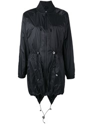 Versus Logo Plaque Raincoat Black