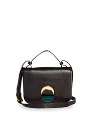 Marni Pois Leather Cross Body Bag Black Cream