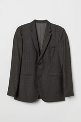 Handm H M Slim Fit Wool Blazer Black