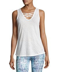 The Balance Collection Cassia Cross Performance Tank White