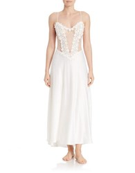 Flora Nikrooz Sleeveless Charmeuse Nightgown Ivory