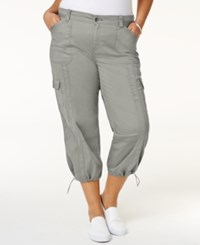 Style And Co Co. Plus Size Capri Cargo Pants Only At Macy's Misty Harbor