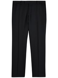 Jaeger Wool Regular Fit Suit Trousers Black