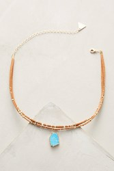 Anthropologie Oceana Stone Choker Necklace Turquoise