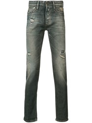 Denham Jeans Distressed Slim Fit Grey