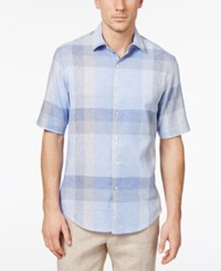 Tasso Elba Men's Skylander Plaid Shirt Only At Macy's Blue Combo