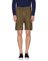 M.Grifoni Denim Trousers Bermuda Shorts Men Military Green