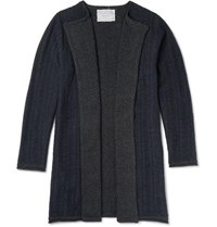 By Walid Neil Embroidered Cashmere Cardigan Charcoal