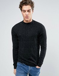 New Look Jumper With Contrast Nep In Black Black