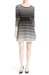 Milly Women's Degrade Stripe Fit And Flare Dress