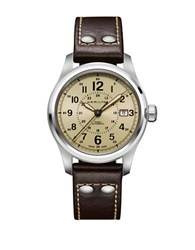 Hamilton Khaki Field Sapphire Bezel Watch Brown