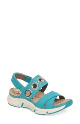 Bionica Women's Olney Sandal Turquoise Leather