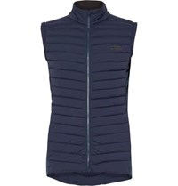 Kjus Macun Stretch Jersey Panelled Dwr Coated Quilted Shell Gilet Navy