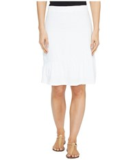 Mod O Doc Slub Jersey Short Skirt With Asymmetrical Ruffle White Women's Skirt