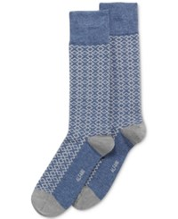 Alfani Men's T Puzzle Socks Only At Macy's Navy Heather