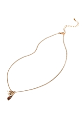 Forever 21 Feather Charm Necklace