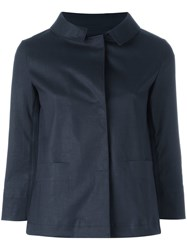 Herno Button Down Jacket Blue