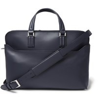 Loro Piana Leather Briefcase Navy