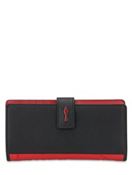 Christian Louboutin Paloma Grained Leather And Rubber Wallet Black