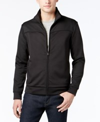 Kenneth Cole New York Men's Zip Front Tech Jacket Black