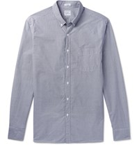 J.Crew Slim Fit Button Down Collar Gingham Cotton Shirt Navy