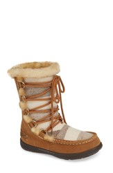 Woolrich Lace Up Bootie Honey Wool