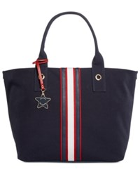 Tommy Hilfiger Web Stripe Tote Navy Red