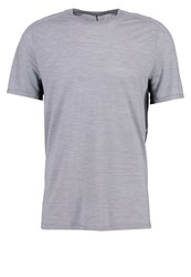 Smartwool Print Tshirt Light Gray Light Grey
